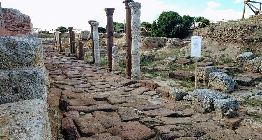 roman road in porto torres