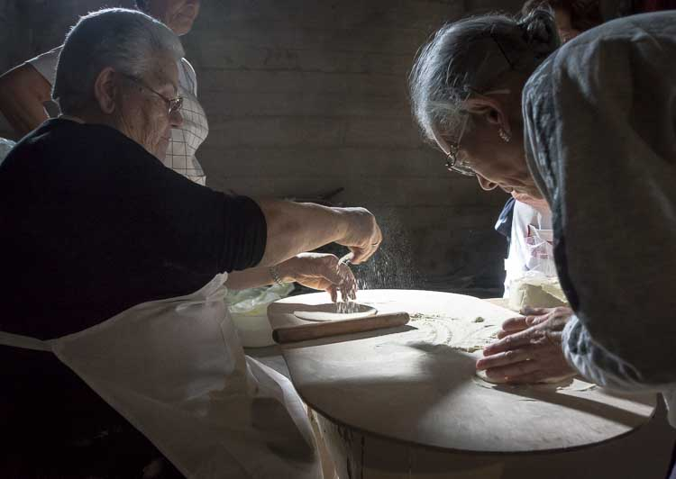 women making bread picture