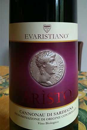 evaristiano aristo wine
